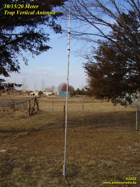 10m/15m/20m Trap Vertical Antenna